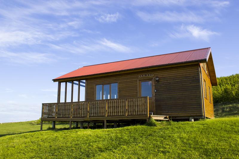 Iceland log cabin accommodation