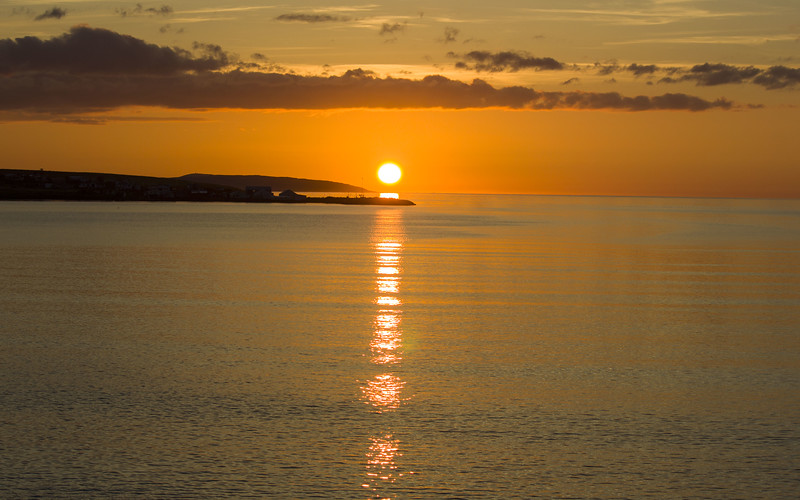 Sunset in Akureyri Iceland