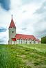 A large country church near Akureyri, Iceland, Europe.