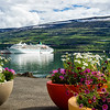 Cruise ship in Akureyri harbor