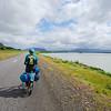Cycling along the Þjórsá River outside Árnes