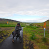 Near the end of the bike path leading us out of Reykjavik after which we joined the traffic on highway 36 towards Þingvellir.