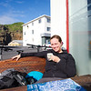 Afternoon coffee break in sunny Heimaey