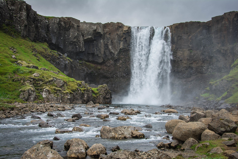 gufufoss waterfall iceland