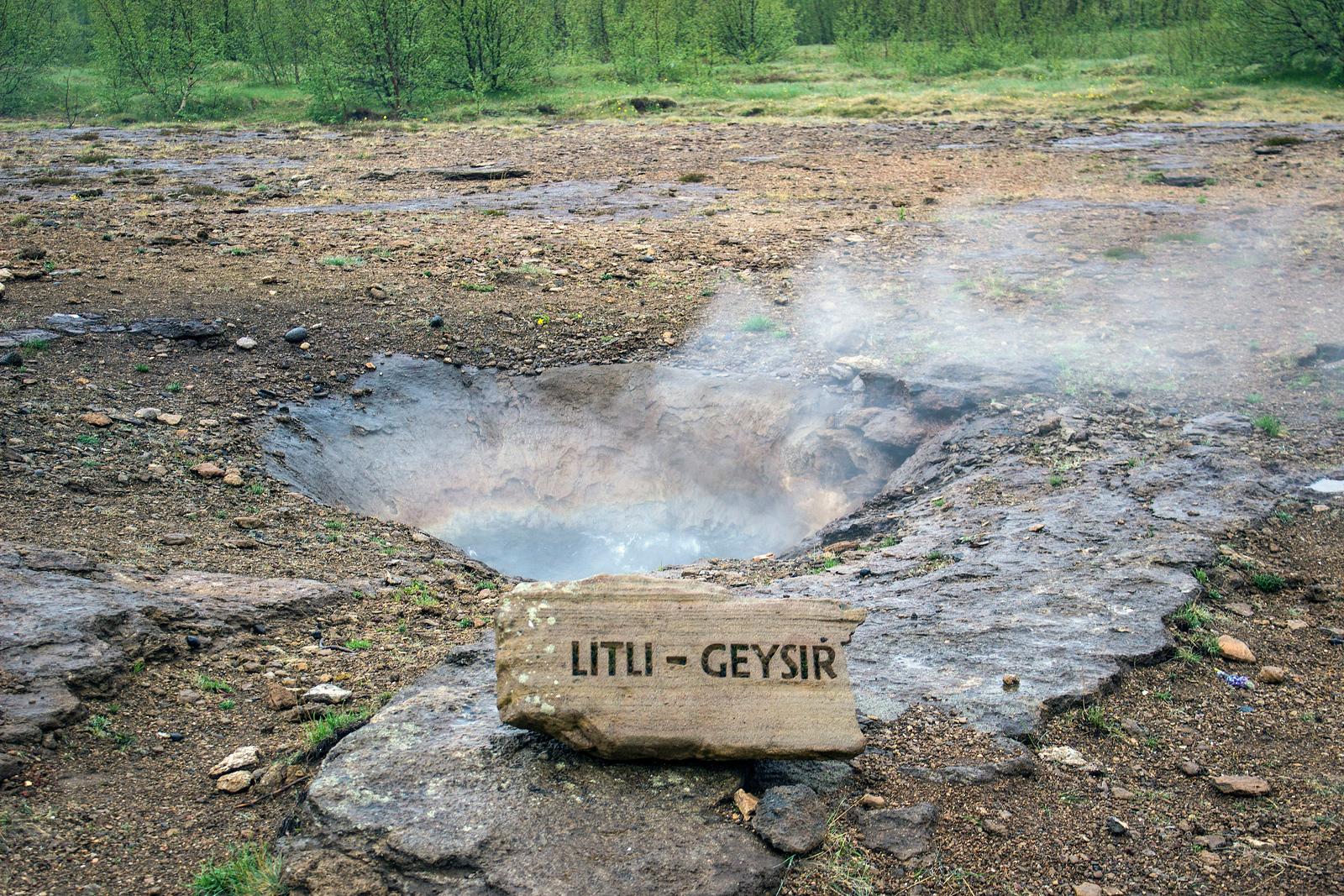 Litli Geysir - Little Geyser in Iceland