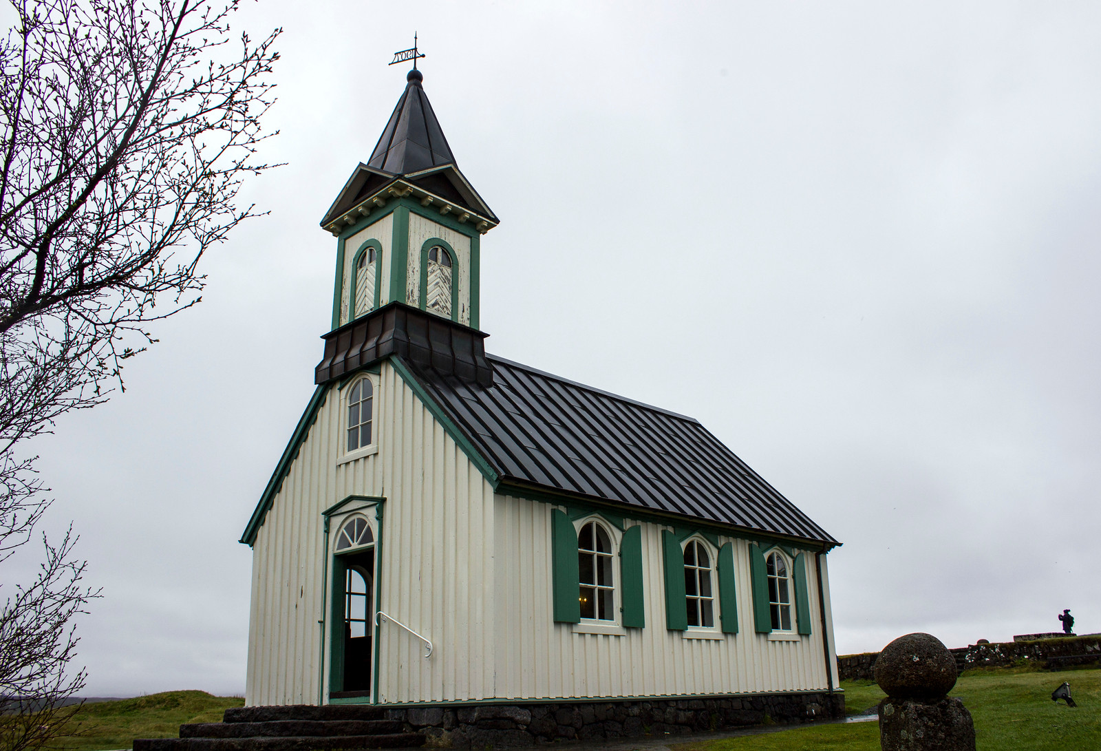 Þingvallakirkja Church at Thingvellir National Park, Iceland