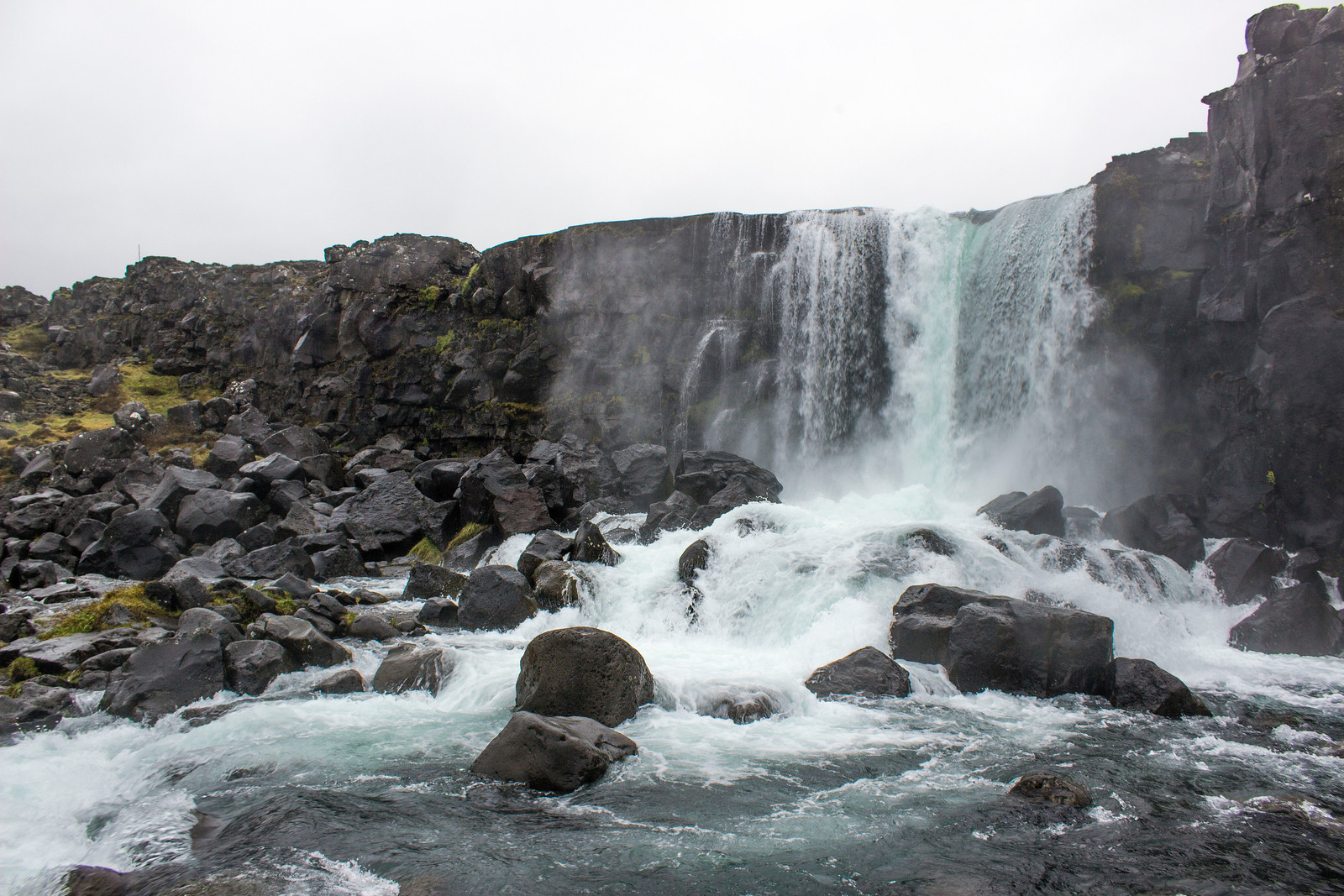 Öxarárfoss waterfall in Thingvellir National Park, Iceland