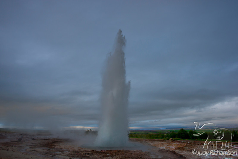 """Strokkur Geysir ~ """"erupts"""" approximately every 5 minutes"""