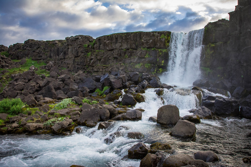 oxarafoss waterfall iceland
