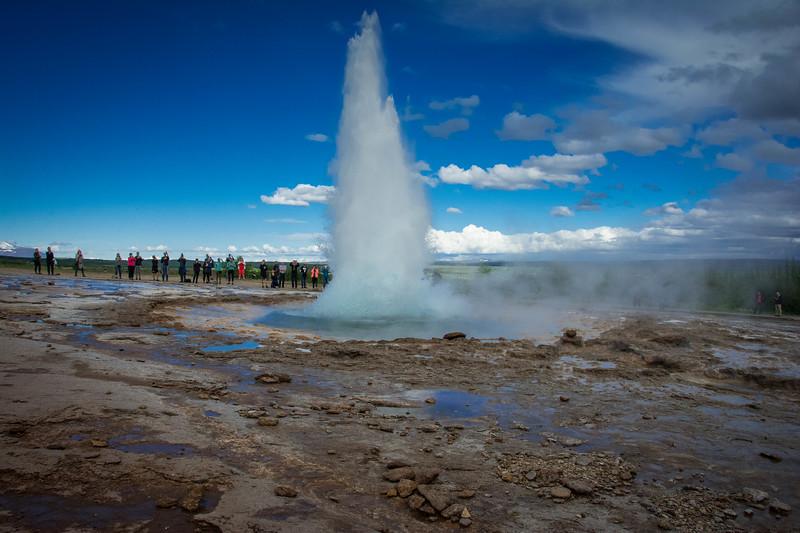 strokkur geyser golden circle iceland