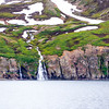 Waterfall seen from the ship Arctic Circle