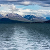View of Akureyri and mountains from the ship Arctic Circle