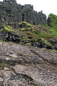 Almannagjá and pahoehoe lava
