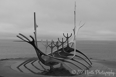 Solfar (Sun Craft) sculpture at the harbor in Reykjavík