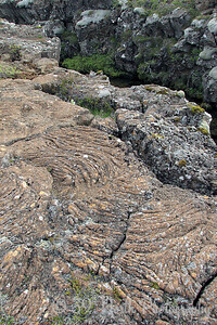 Pahoehoe lava at Vallagjá