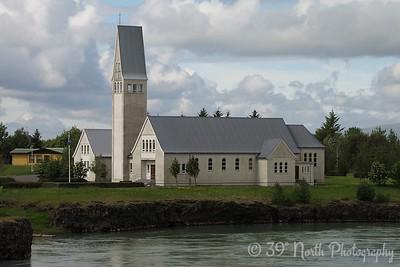 In Selfoss - church on the Ölfusá