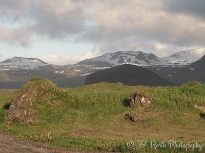 Looking toward Snaefellsjokull (Snow Mountain Glacier) from Hellissandur