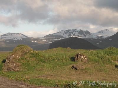 Looking toward Snaefellsjokull (Snow Mountain Glacier) from Hellissandur