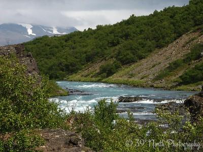 The Hvita (river) above Barnafoss