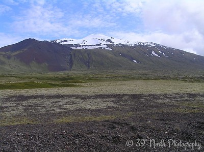 Snaefellsjokull is located on the western end of Snaefellsnes (Snow Mountain Peninsula)