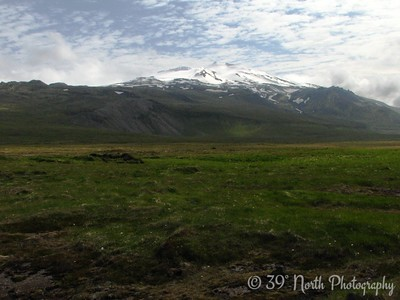 Snaefells (Snow Mountain) and its resident jokull (glacier)