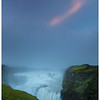 Gullfoss, the golden waterfall at last light