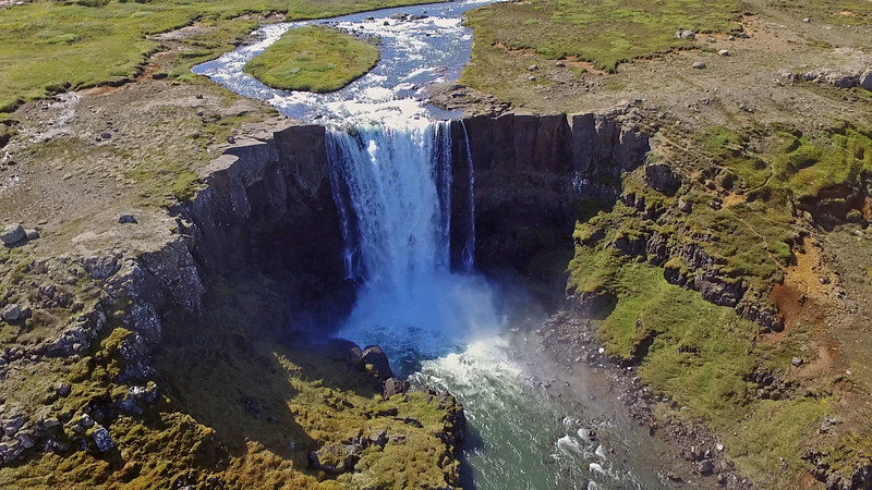 Gufufoss from our drone