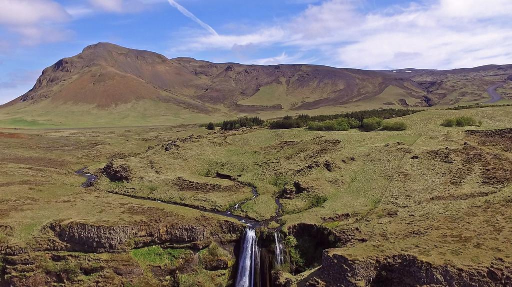 Gljúfrabúi - Waterfall drone photography Iceland