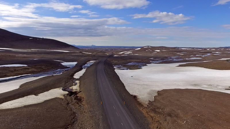 Iceland roads from above