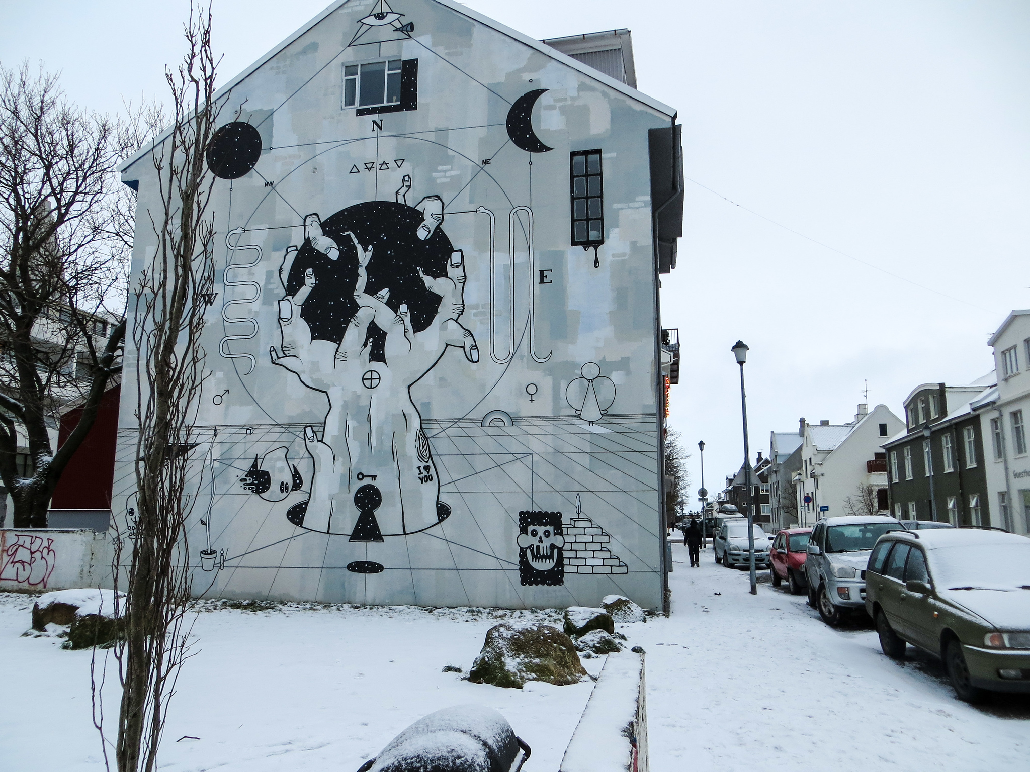 traveling solo to iceland means seeing awesome street art