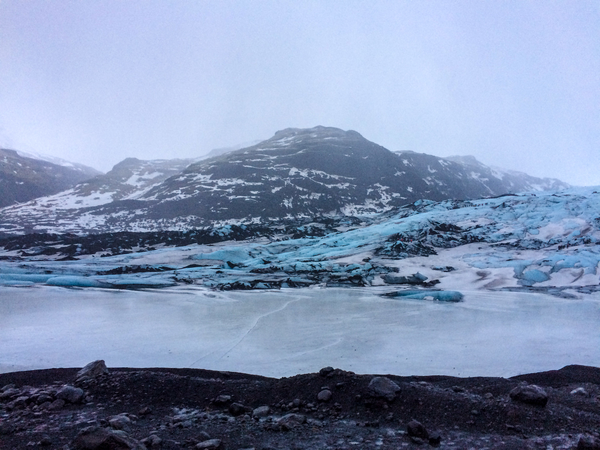 alone in iceland and on a glacier = magical