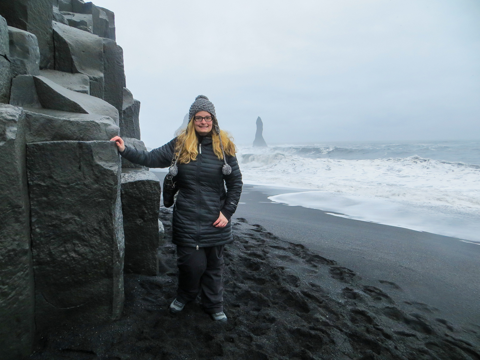 solo female travel iceland on vik beach