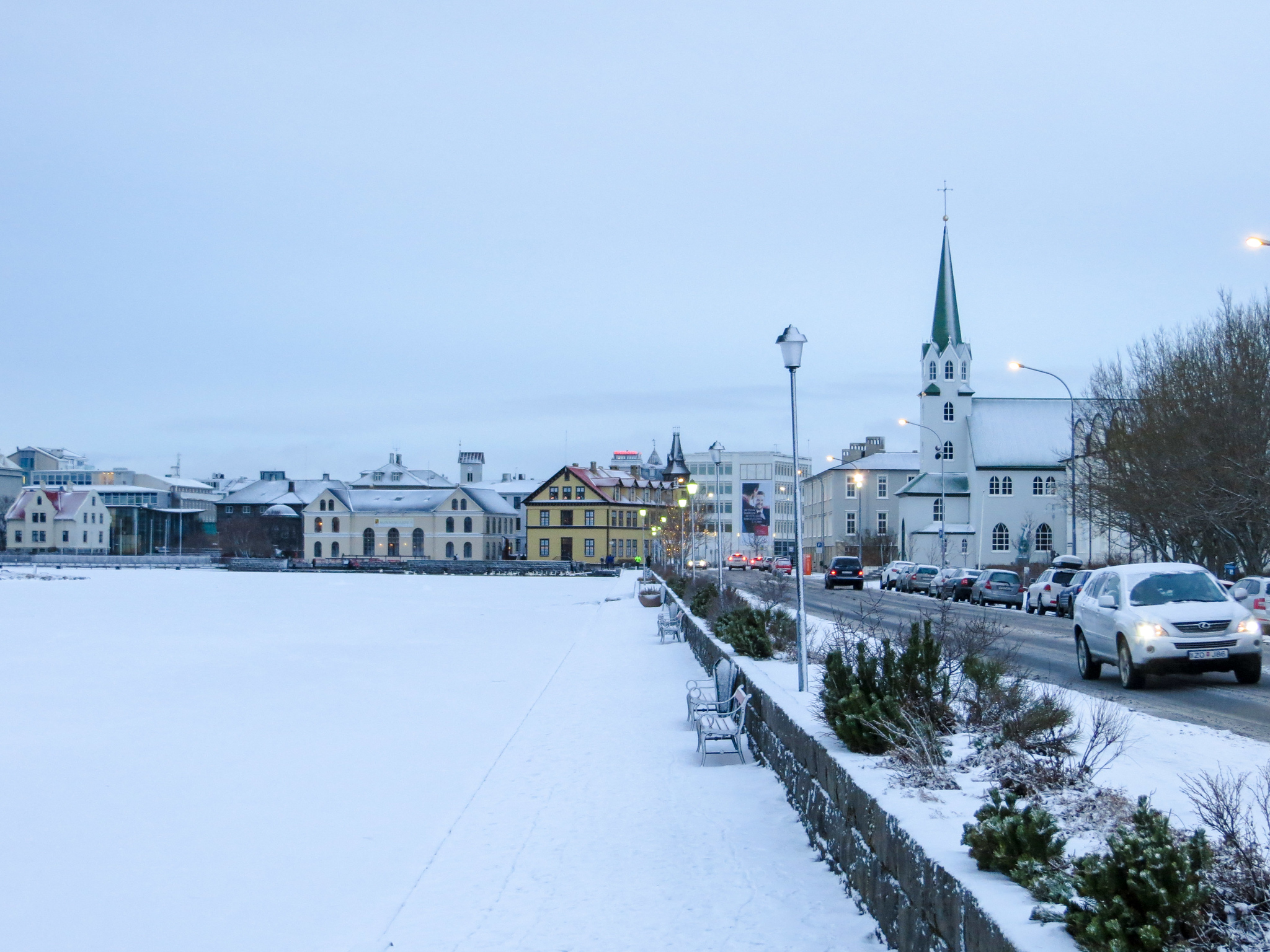travel iceland alone and explore the snowy streets