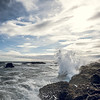 Waves breaking on Reykjanes