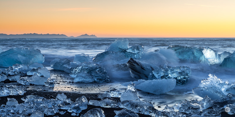 Sunrise ice pano