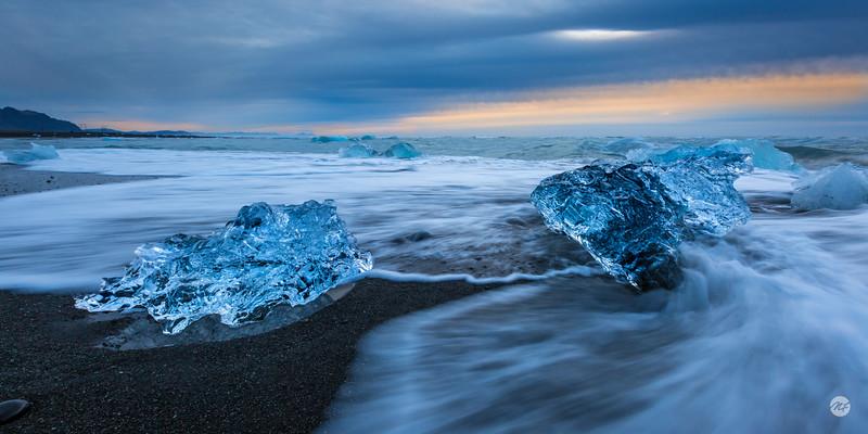 Breiðamerkursandur beach pano