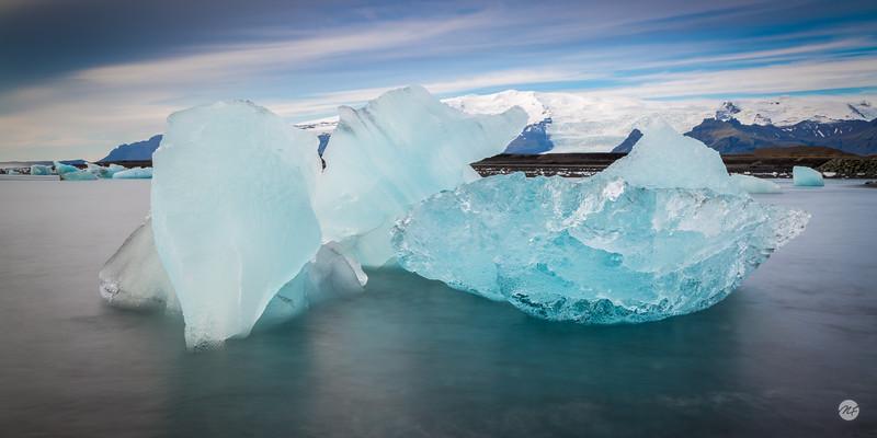 Glacial debris pano