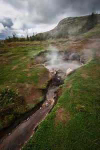 A natural Hot Spring in Iceland.