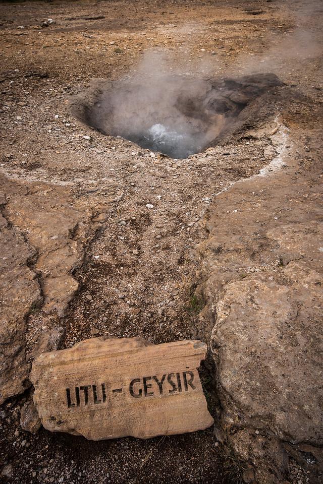 A little geyser in Iceland.