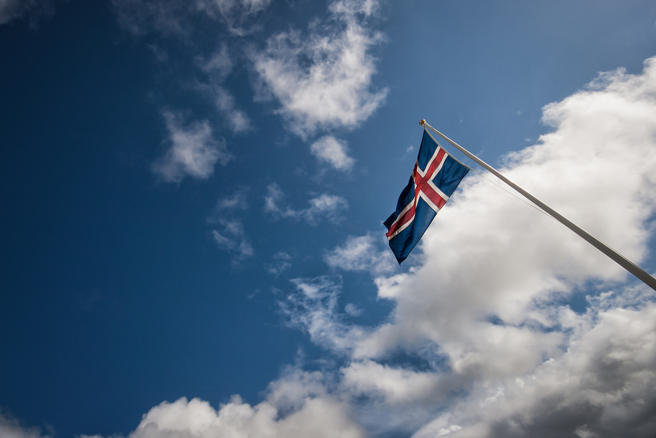 The Flag of Iceland.