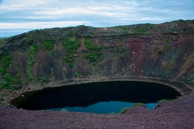 Kerid Crater at 23:00