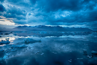 Blue Hues at the Glacial Lagoon