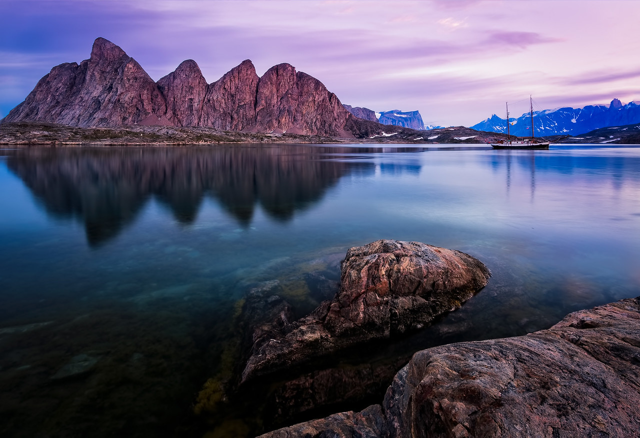 Just after Sunset in Greenland