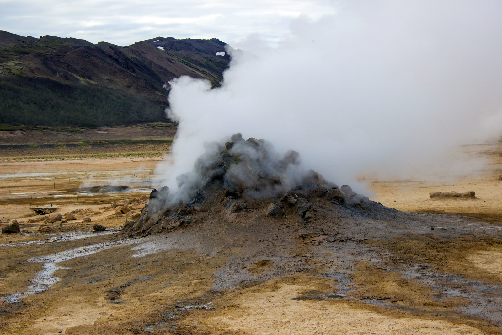 Namafjall Hverir Geothermal Area Iceland - Travel to Mars