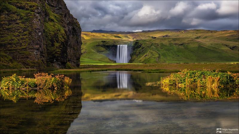 Near waterfall Skogafoss