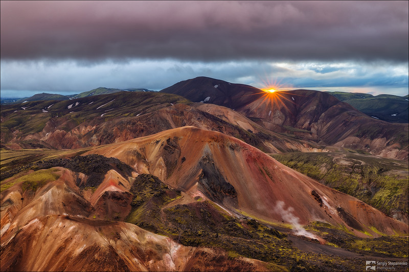 Sunset on the Colored Mountains | Закат на цветных горах
