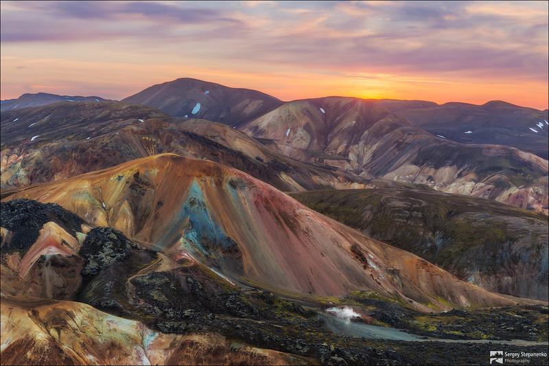 Sunset on the Colored Mountains | Закат на цветных горах