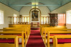 The Laufás church interior  in Eyjafjörður near Grenivík in northern Iceland, Europe.