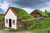 The Laufás turf houses in Eyjafjörður near Grenivík in northern Iceland, Europe.