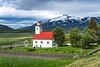 The Laufás church in Eyjafjörður near Grenivík in northern Iceland, Europe.
